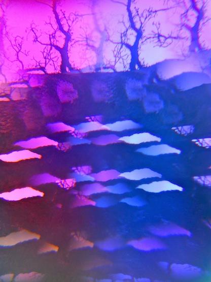 geometric shapes under a tree