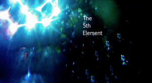 The fifth element against a dark night sky
