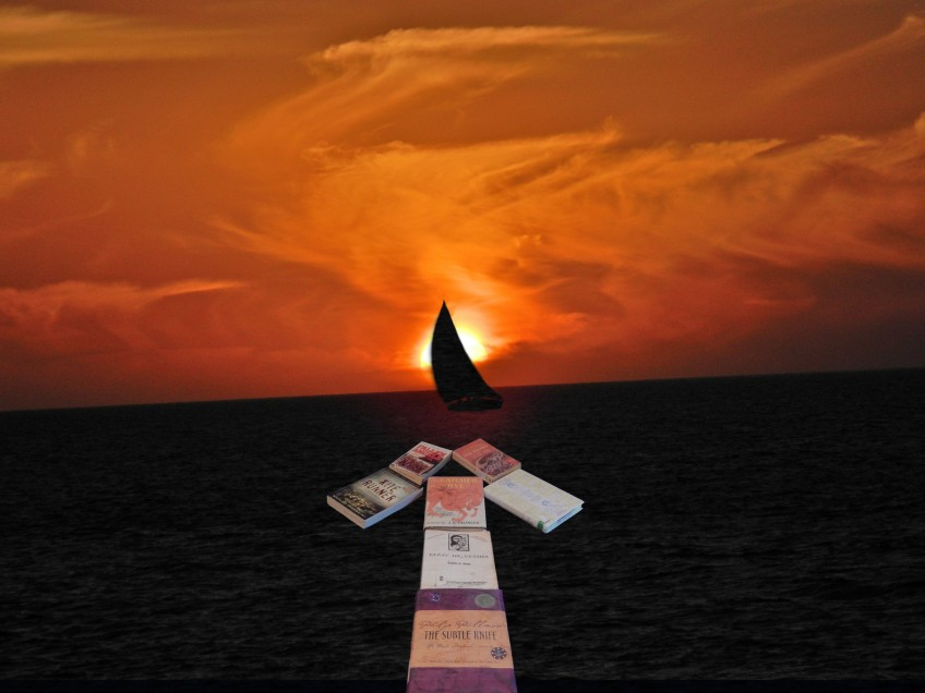 books point to a sailboat © Cristi Jenkins Creations
