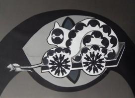 a mouse pulls a cat © Cristi Jenkins