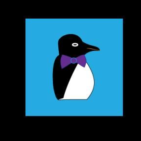 a cartoon penguin © Cristi Jenkins Creations