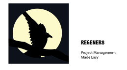 Regener8 Logo with a crow against a moon